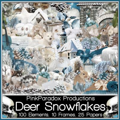 Deer Snowflakes